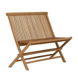 Skládací zahradní lavice z teakového dřeva SOB Garden