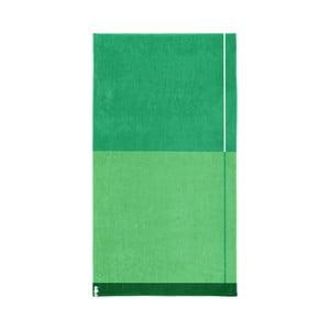 Zelená bavlněná osuška Seahorse Block, 180x100cm