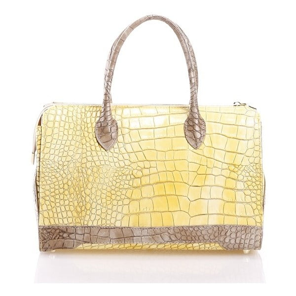 Kožená kabelka Livie, žlutá