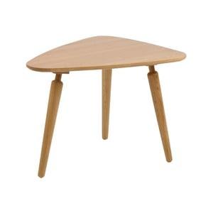 Přírodní konferenční stolek z dubového dřeva Folke Cappuccino, výška 53x50x67cm