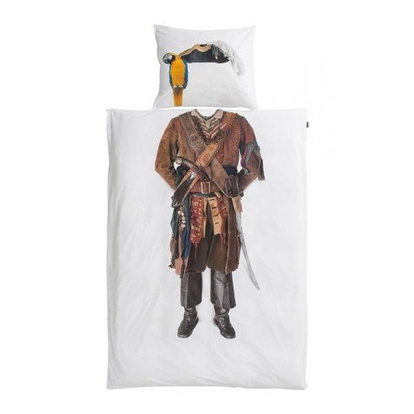Bawełniana pościel jednoosobowa Snurk Pirate 140 x 200 cm