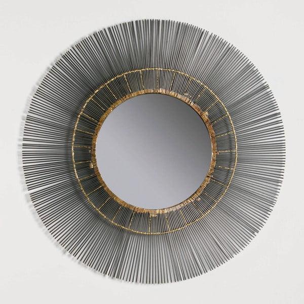 Nástěnné zrcadlo s kovovým rámem Thai Natura, ∅81cm