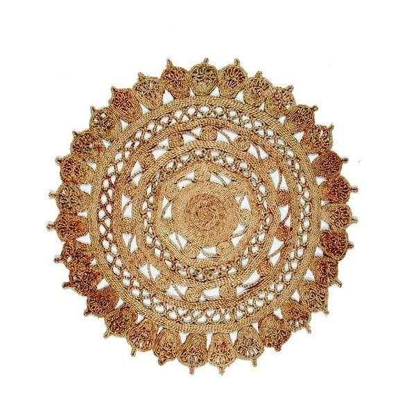 Jutový kruhový koberec Eco Rugs Jamelia, Ø120cm