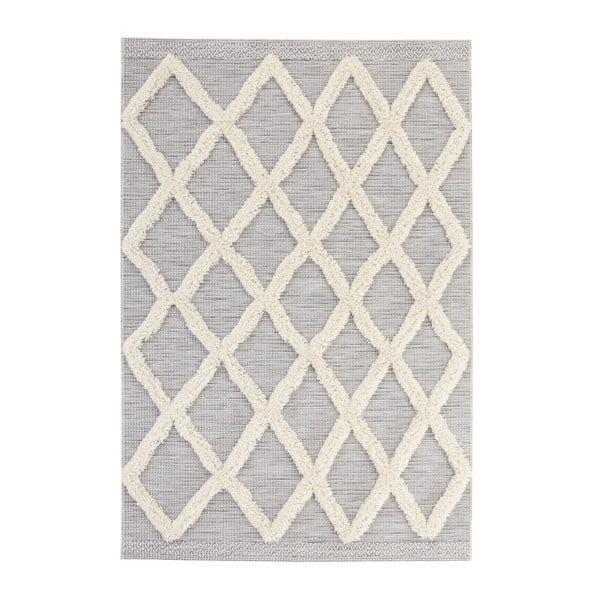 Handira Grid szürke szőnyeg, 230 x 155cm - Mint Rugs