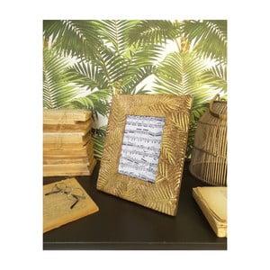 Sada 2 rámečků z mangového dřeva Orchidea Milano Jungle, výška 28 cm