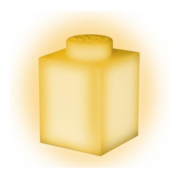 Żółta silikonowa lampka nocna LEGO® Classic Brick