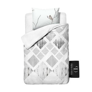 Povlečení z bavlny Dreamhouse Lanscape White, 140x220cm