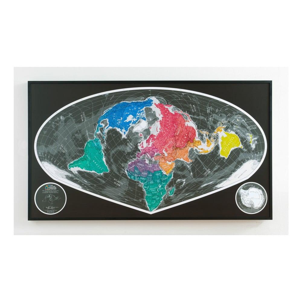 Magnetická širokoúhlá mapa The Future Mapping Company Future Map, 101x58cm