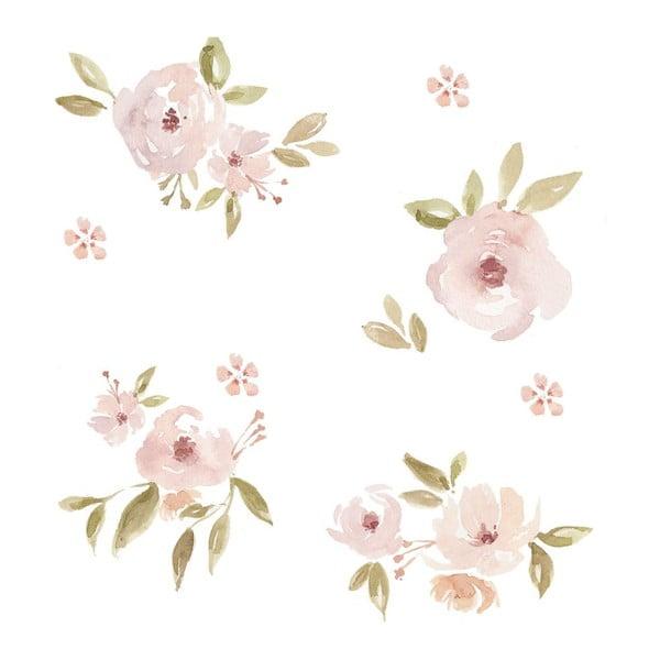 Sada nástěnných samolepek Dekornik Magnolias