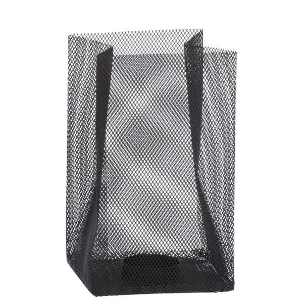 Svícen Metal Black, 11x11x18 cm