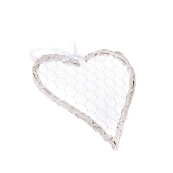 Decorațiune de agățat din ratan Dakls Rattano Heart Quatro imagine