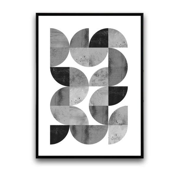 Plakát v dřevěném rámu Locusta, 38x28 cm
