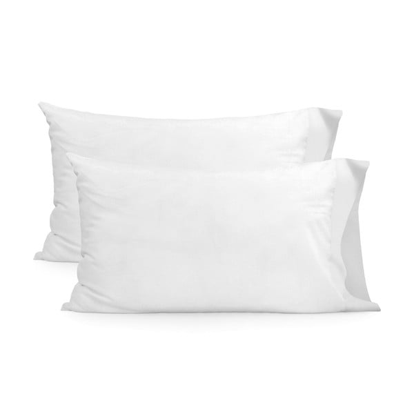 Sada 2 bílých bavlněných povlaků na polštář Happy Friday Basic, 50x75cm