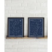 Sada 2 plakátů Follygraph Little & Big Astronomer Blue, 30x40cm