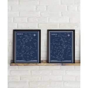 Set 2 postere Follygraph Little & Big Astronomer Blue, 30 x 40 cm
