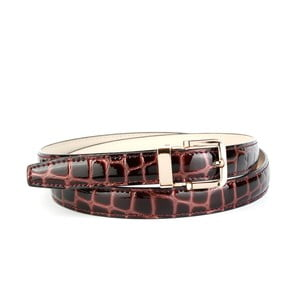Dámský kožený pásek 444L Lila, 80 cm