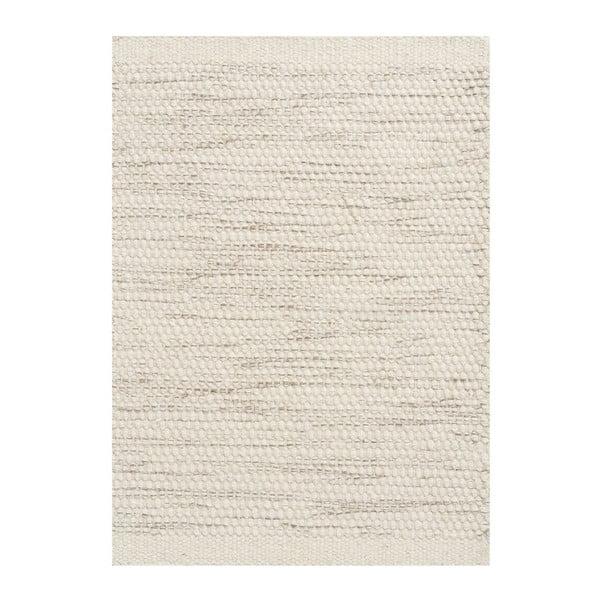 Vlněný koberec Asko, 70x140 cm, slonovinová kost