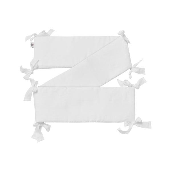 Protecție din in pentru pătuț BELLAMY Snow White, 23,5 x 198 cm, alb