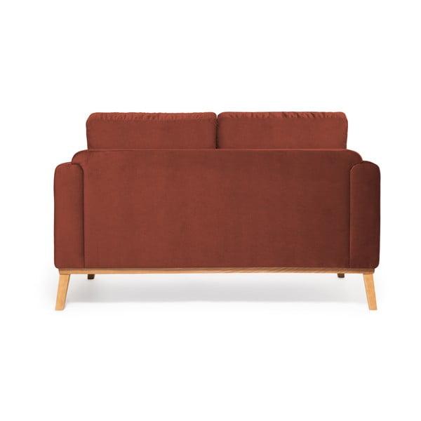 Vínově červená 2místná sedačka Vivonita Milton Trend