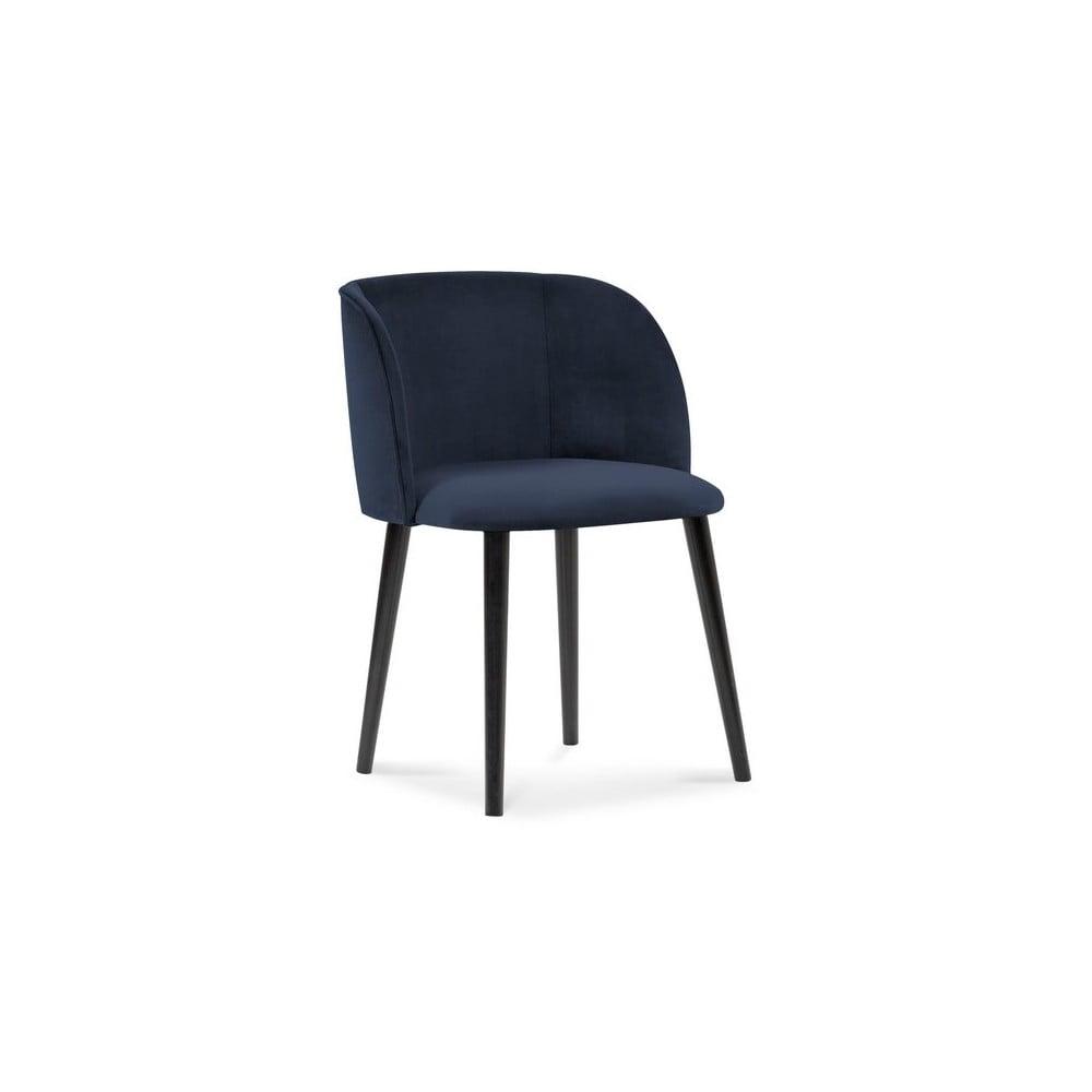 Produktové foto Tmavě modrá jídelní židle se sametovým potahem Windsor & Co Sofas Aurora