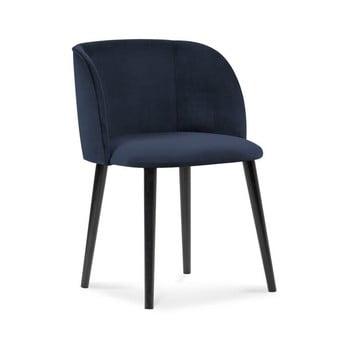 Scaun cu înveliș de catifea Windsor & Co Sofas Aurora, albastru închis de la Windsor & Co Sofas