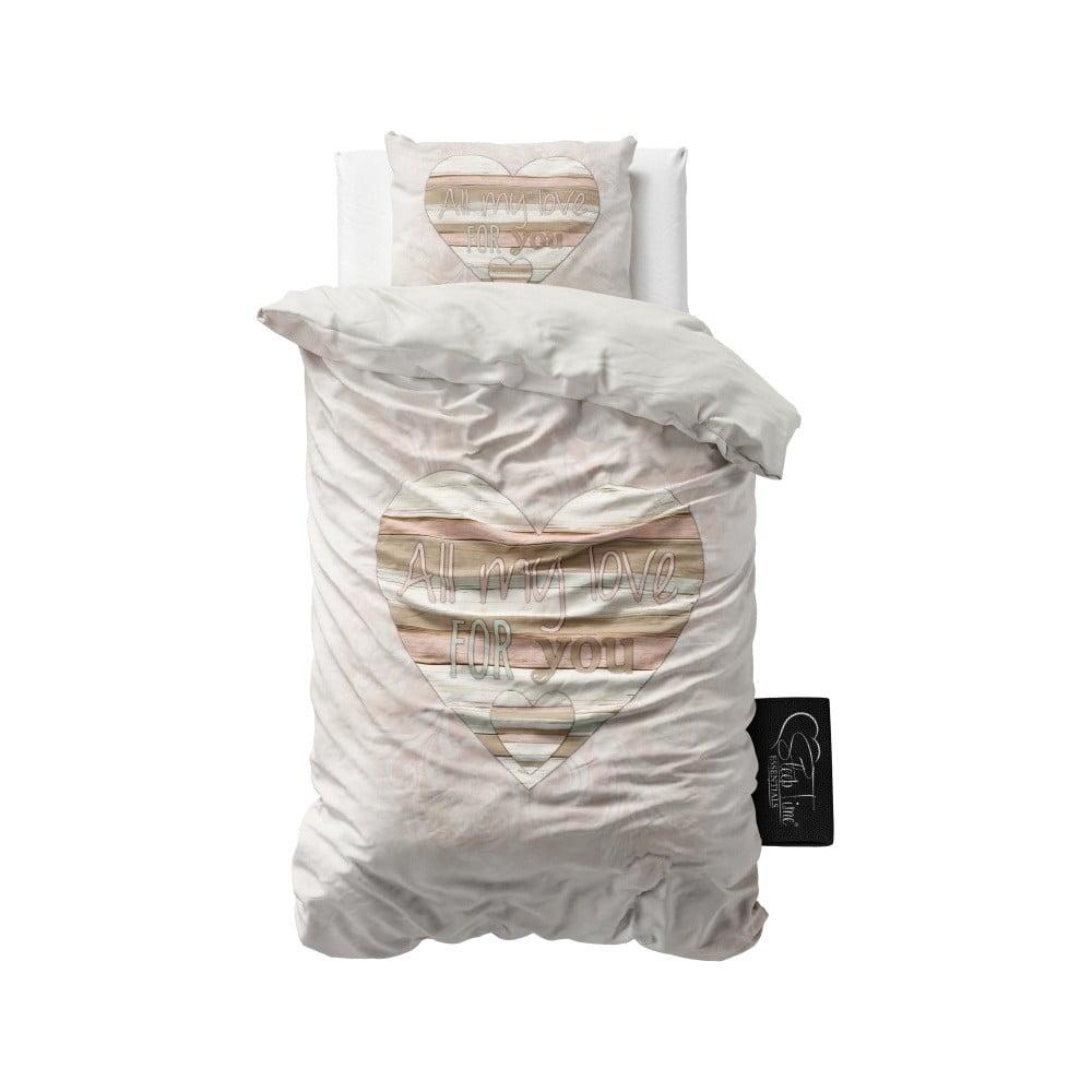 Povlečení z mikroperkálu Sleeptime All My Love, 140 x 220 cm