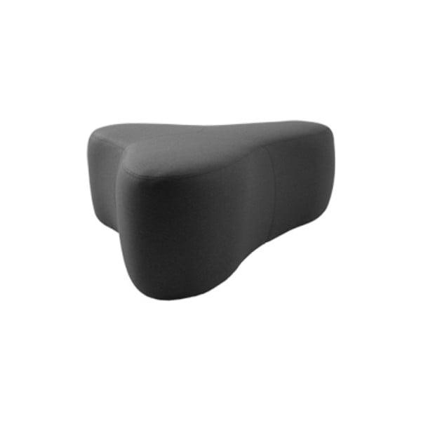 Tmavě šedý puf Softline Chat Felt Melange Grey, délka 90 cm
