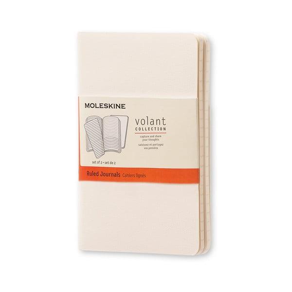 Caiet Moleskine Volant, 80 pag., hârtie dictando, alb