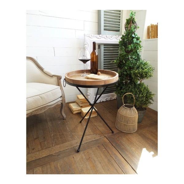 Country kisasztal levehető fa asztallappal - Orchidea Milano