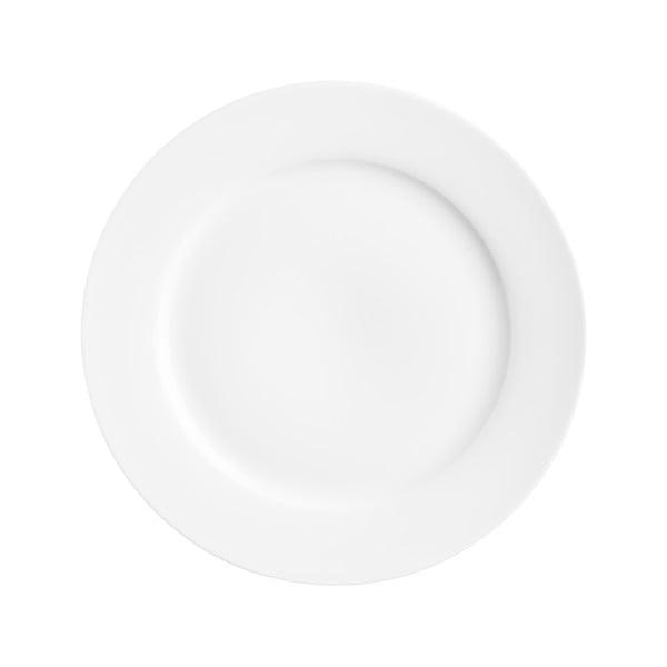 Bílý dezertní porcelánový talíř Price&Kensington Simplicity,⌀19cm