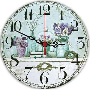 Nástěnné hodiny Violet, 30 cm