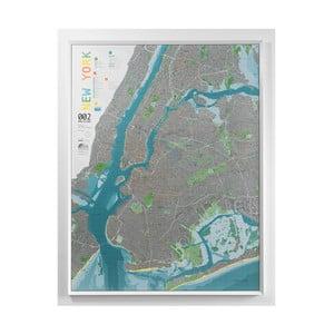Magnetická mapa New Yorku The Future Mapping Company New York City, 130 x 100 cm
