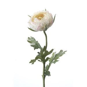 Umělý pryskyřník, krémově růžový, 48 cm