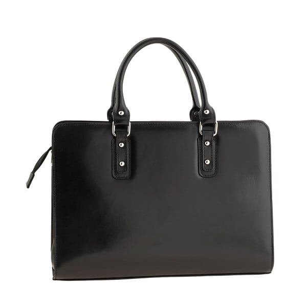 Černá kožená kabelka Ore Diece Taranto