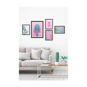 Sada 5 nástěnných obrazů Tablo Center Neon