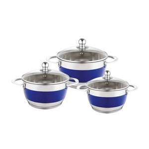 Set 3 cratițe cu capac Krauff Cook, mov