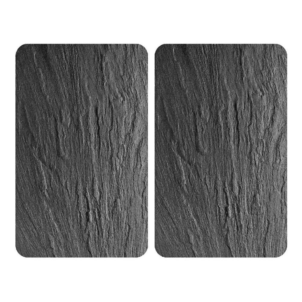 Sada 2 skleněných krytů na sporák Wenko Slates, 52 x 30 cm