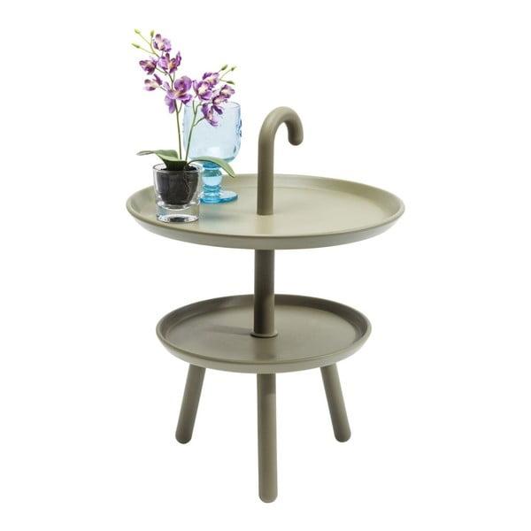 Zelený odkládací stolek Kare Design Jacky, ⌀42cm