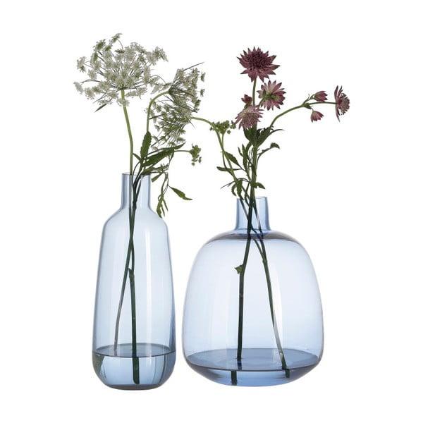 Modrá skleněná váza A Simple Mess Aege, výška22cm