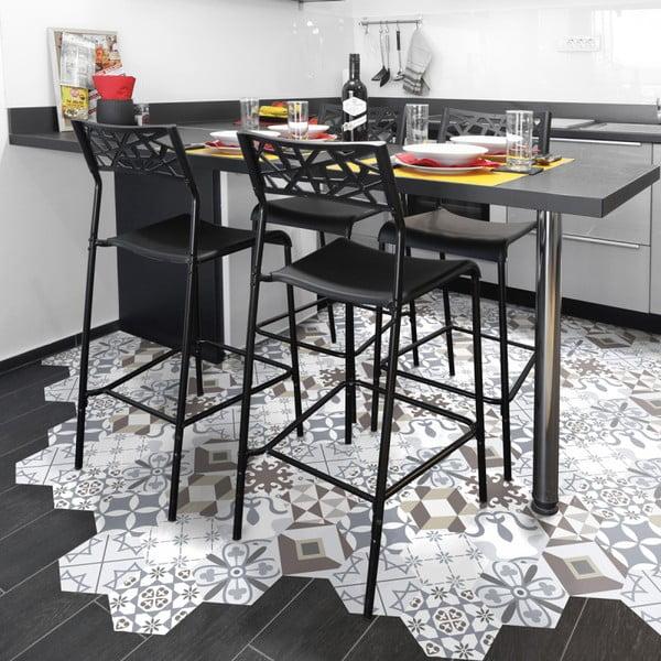 Zestaw 10 naklejek na podłogę Ambiance Floor Stickers Hexagons Mariana, 40x90 cm