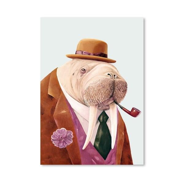 Plakát Walrus, 30x42 cm