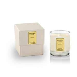 Vonná svíčka ve skle s vůní citrusů a bazalky Bahoma London, 75 hodin hoření