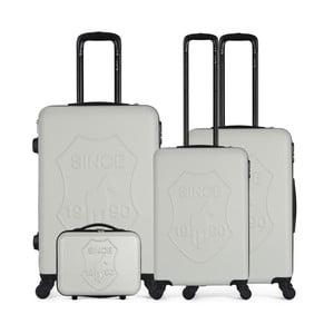 Sada 4 béžových cestovních kufrů na kolečkách GENTLEMAN FARMER Integre & Vanity