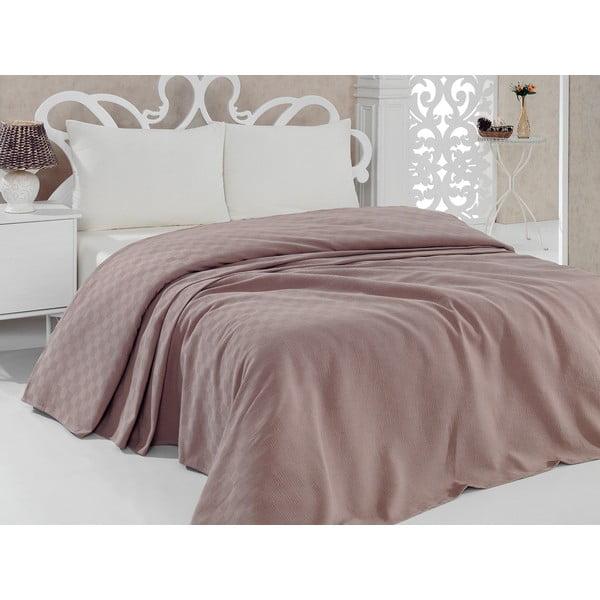 Přehoz přes postel Pique Pink, 160 x 240 cm