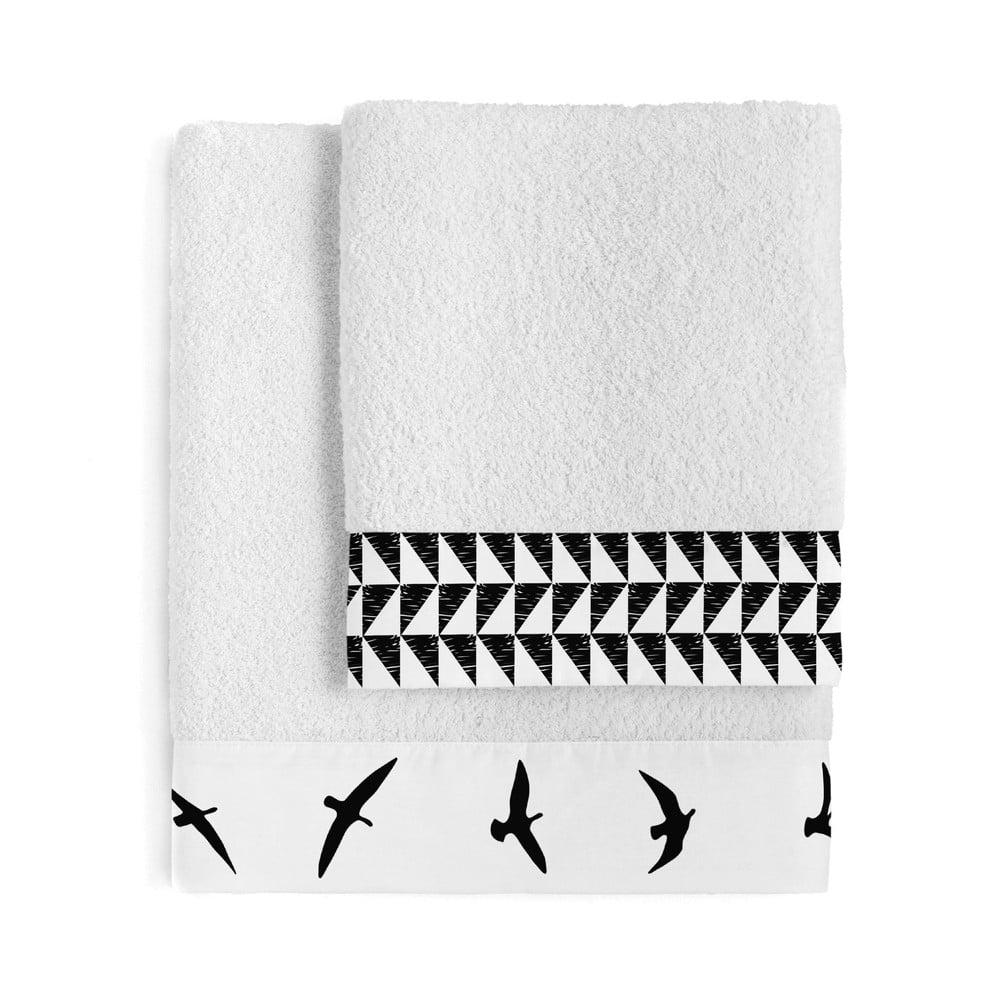 Sada 2 bavlněných ručníků Blanc Trip