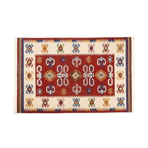 Ručně tkaný koberec Kilim Dalush 001, 90x60 cm