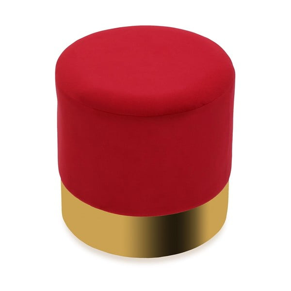 Czerwony puf Versa Redondo