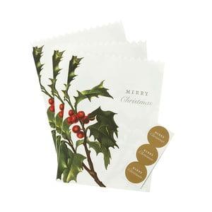 Sada 8 papírových sáčků Talking Tables Merry Christmas