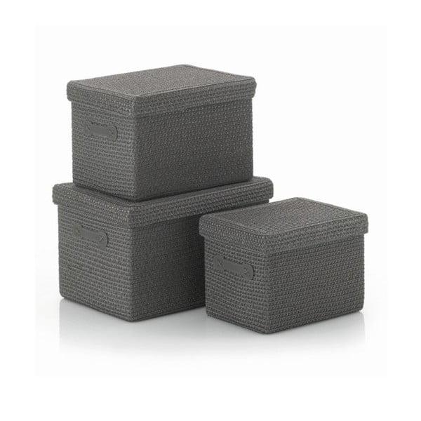 Sada 3 ks košíků Rimossa, šedá