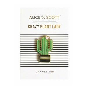 Odznak ve tvaru kaktusu Portico Designs